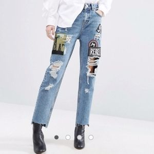 ASOS Patch Destroyed Jeans / 26